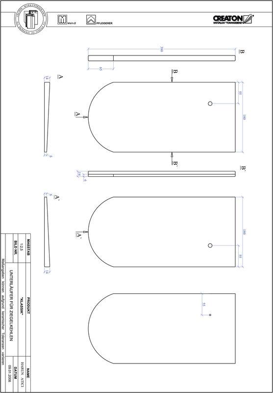 Proizvod CAD file KLASSIK zaobljeni RUND-UNTERLAEUFER