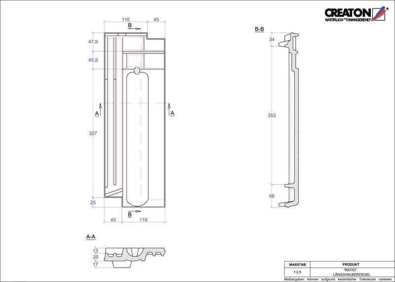 Proizvod CAD file RATIO polovica crijepa LH