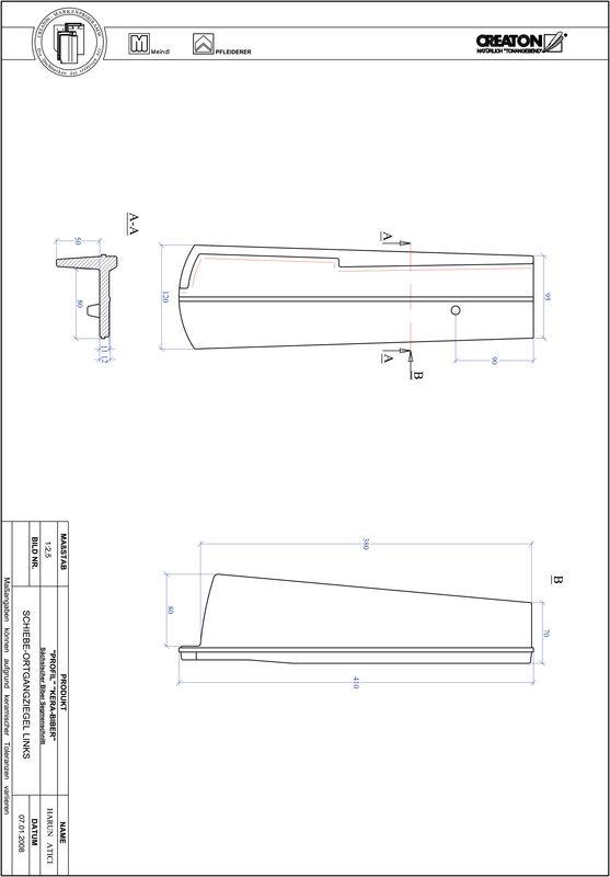 Proizvod CAD file PROFIL segmentni rez KERA-SAECHS-18-CM-OGL