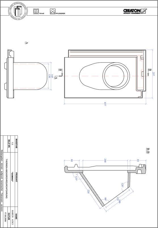 Proizvod CAD file DOMINO dimovodni crijep THERME