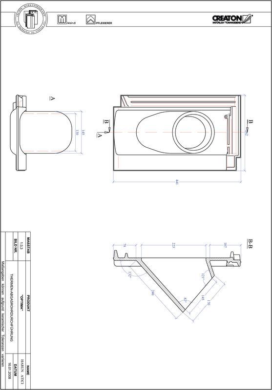 Proizvod CAD file OPTIMA dimovodni crijep THERME