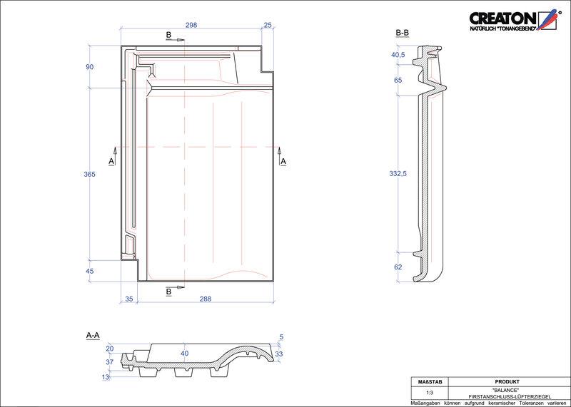 Proizvod CAD file BALANCE podsljemeni odzračni crijep FALZ